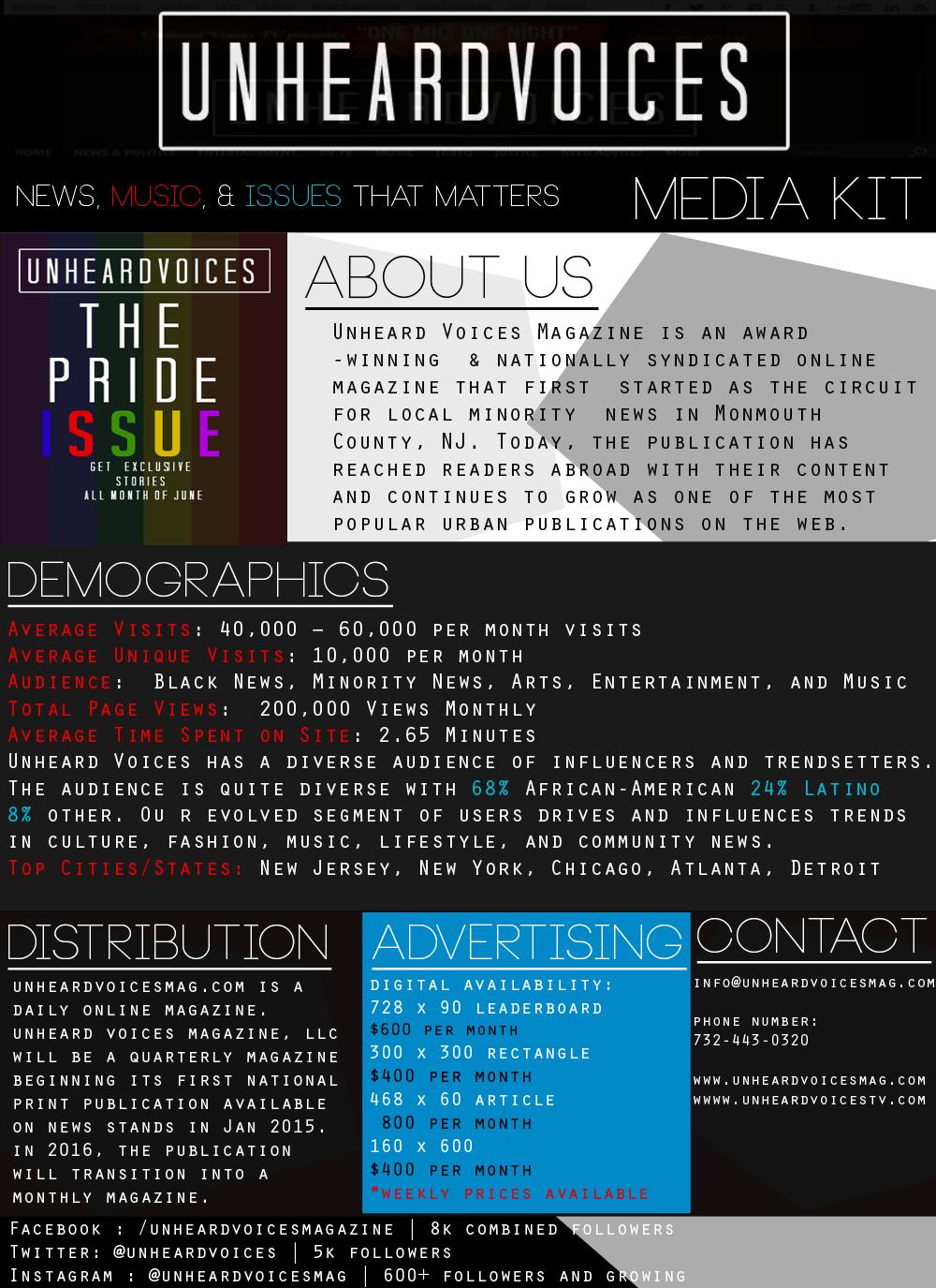 Unheard Voices Media Kit